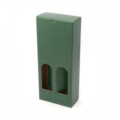 BOX OLIVE OIL 2BT 130X65X320MM GREEN