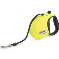 Ancol Viva Extending Lead - Small 5m Hi-Viz Yellow x 1
