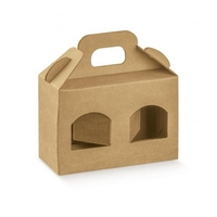 BOX 2BOTTLE 170X80X120MM PLAIN KRAFT