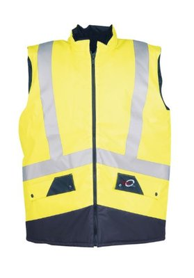 SIOEN 9351 Hi-Vis Two-Tone Bodywarmer Yellow/Navy