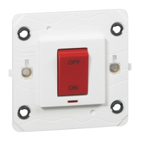 Arteor Small Cooker Switch 45a (Neon) - White  | LV0501.0008