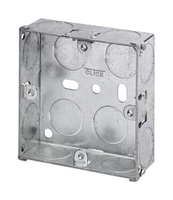 1 Gang 25mm deep Galvanised Steel K.O Box