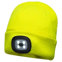 Beanie W/LED Head Light, Yellow