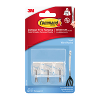 Command Small Clear Wire Hooks with Clear Strips 17067CLR