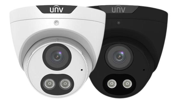 UNV 5MP White or Black IP AI ColorHunter Turret 2.8mm Mic 30mWhiteLED