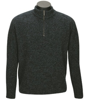 MKM Mount Zip & Collar Possum/Merino Jersey