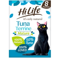 HiLife 'ION' Mature Cat Pouch Complete - Tuna Terrine 70g 8pk x 4