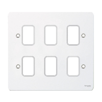 Flat Plate G Painted White GANG PLATE|LV0701.1024