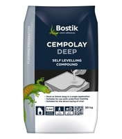 CEMPOLAY DEEP FLOOR LEVELLER 50MM 20KG  BLACK\NAVY BAG INTERIOR USE ONLY CANNOT BE USED AS FINISHED FLOOR HAS TO BE COVERED