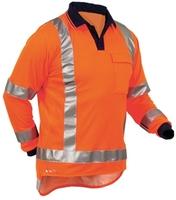 Hi Vis TTMC-W Quikdri Long Sleeve Polo