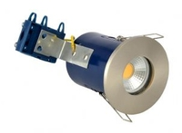 IP65 240V GU10 Fire Rated Showerlight Satin Chrome