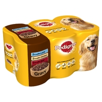 Pedigree Cans Adult in Gravy 400g x 6pk x 4