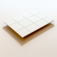 "Foam Board 3mm Adhesive Kraft/White 48""x36"""