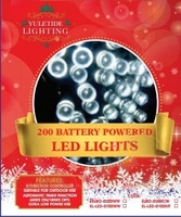 200 Battery Powered LED Lights Cool White