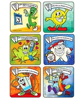 MEDIBADGE - TIPS FOR A HEALTHY SMILE STICKERS
