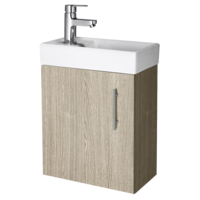 400 Wall Hung Compact Vanity Unit Inc Basin  Oak