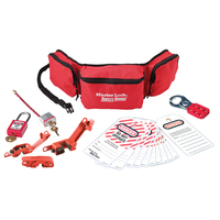 Master Lock Group safety lockout kit, electrical focus with Zenex™ thermoplastic padlocks
