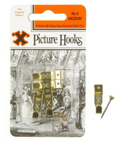 12824 12CARDS NO.2 BRASS.PICT.HOOKS