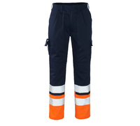 MASCOT Patos High Visibility Trousers Navy/Hi-Vis Orange