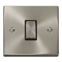 Click Litehouse DECO Inter Ingot Switch Black Insert Satin Chrome