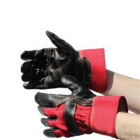 Bodytech Excel Premium Rigger Gloves, Red/Black