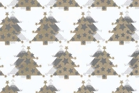 50CM X 100M METTALIC WHITE WITH GOLD XMAS TRE