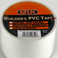 STUK 75 MM X 33 MTR WHITE BUILDERS PVC TAPE