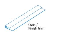 3.05m - 2 PART START/FINISH TRIM WHITE