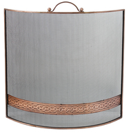 Copper Celtic Band Fire Screen