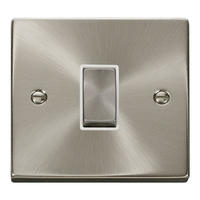 Click Litehouse DECO 1G 2Way Ingot Switch White Insert Satin Chrome