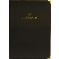 Classic Menu 4 Page A5 Black