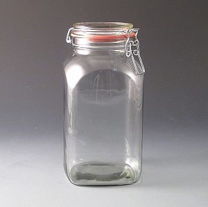 2.5ltr Clip Top Storage Jar.(Tray of 12)