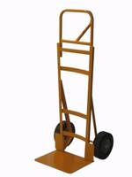 Heavy Duty Hand Truck with curved back frame