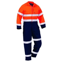 Hi Vis Day/Night Industrial Maxim Cotton Zip Overall