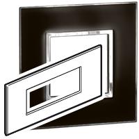 Arteor (British Standard) Plate + Support 6m Square Mirror Black| LV0501.0158