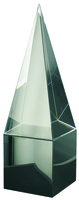 23cm Crystal Pyramid  (Satin Box)