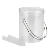 Ice Bucket & Tongs Clear