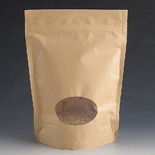 500g Kraft stand up pouch with Window.