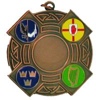 60mm Bronze 4 Prov Medal to Take Centre