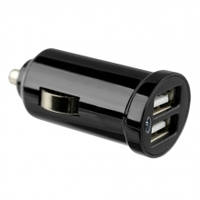 Picco Twin USB Car Adapter 5V 2.1A (Black)