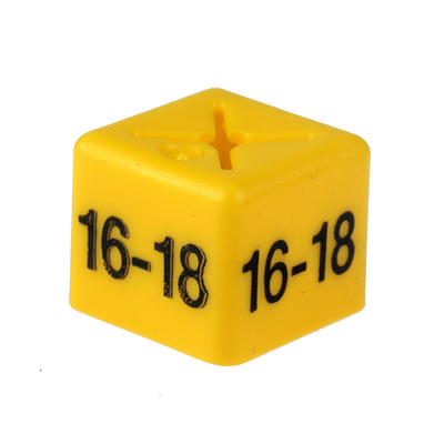 SHOPWORX CUBEX 'Size 16-18' Size cubes - Yellow (Pack 50)