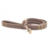 "Ancol Timberwolf Leather Lead Sable 1"" x 40"" x 1"