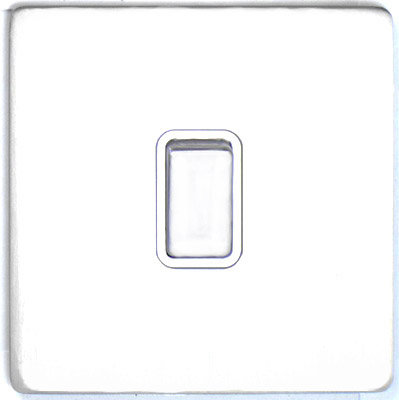 DETA Screwless 1 Gang Switch White Metal White | LV0201.0021