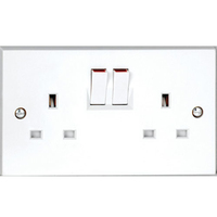 Vimark 13A 2 Gang Switched Socket