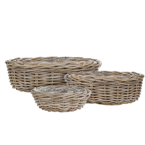 Mica Decorations Marcia set of 3 round baskets