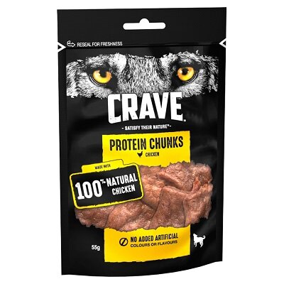 Crave Protein Chunks with Chicken 6 x 55g