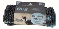 Henry Wag Microfibre Noodle Mat - Grey XL 107 x 87cm x 1