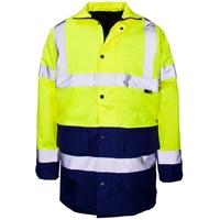 Supertouch Hi-Visibility 2 Tone Parka, Yellow/Navy