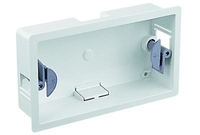 2 Gang Dry Lining Mounting Box With 6-14mm Adjustment 34mm Depth