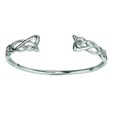 SILVER TORC BANGLE (BOXED)